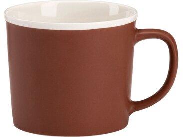 Lot de 2 mugs en porcelaine marron 35cl (prix unitaire : 3.0 euros) - alinea