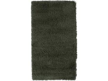 Descente de lit à poils longs vert cèdre 60x110cm - alinea