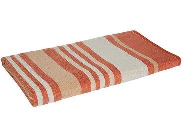 Drap de plage fouta en coton rayé marron 100x180cm - alinea