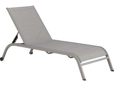 Lot de 2 bain de soleil en aluminium et textilène - gris vésuve (prix unitaire : 99.0 euros) - alinea