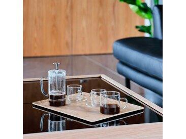 Coffret cafetière et tasses en verre transparent - alinea