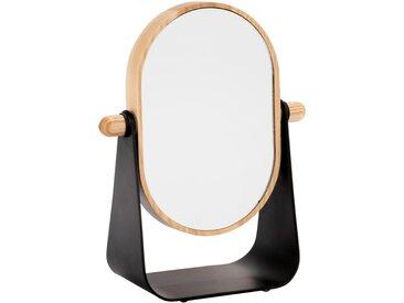 Miroir grossissant bois et métal Alinéa