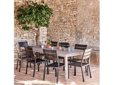 Table de jardin extensible en aluminium - gris vésuve (10 à 12 places) - alinea