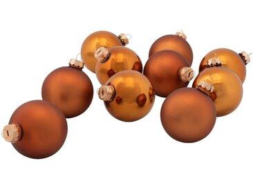 10 boules de Noël en verre cuivré D6cm - alinea