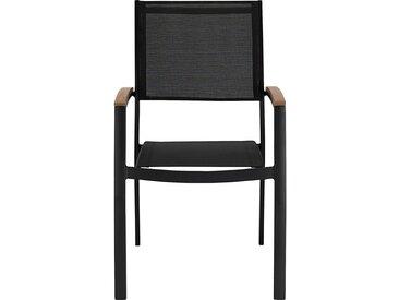 Lot de 2 chaise de jardin avec accoudoirs empilable en aluminium - noir (prix unitaire : 79.0 euros) - alinea