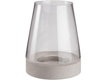 Vase en verre et ciment D17xH22cm Alinéa