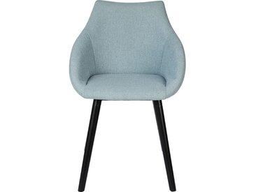 Lot de 2 chaise en tissu avec accoudoirs - bleu grisé (prix unitaire : 49.0 euros) - alinea