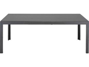 Table de jardin extensible en duraboard - gris 8 à 12 places - alinea