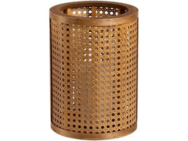 Lanterne inspiration cannage en pin - naturel D10,5xH15cm - alinea
