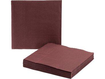 Lot de 20 serviettes en papier rouge sumac 33x33cm - alinea