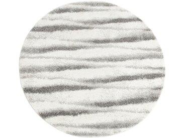 Tapis rond à motifs blanc et noir D160 cm - alinea