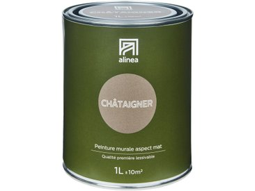 Peinture acrylique mate multi-supports 1L brun chataignier Alinéa