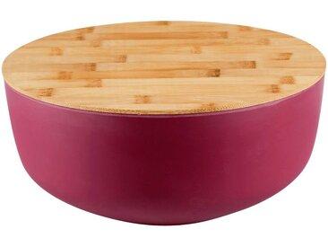 Saladier en fibre de bambou rouge D25,5cm - alinea