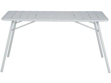 Table de jardin pliante en acier - gris vesuve (4 à 6 places) - alinea