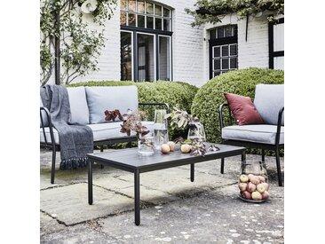 Salon de jardin en aluminium gris (4 places) - alinea