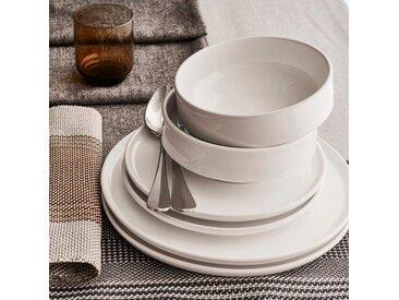 Coffret de vaisselle 12 pièces en faïence blanc - alinea