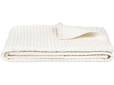 Jeté de lit en coton gaufré blanc capelan 180x230cm Alinéa