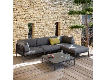 Pouf de jardin en aluminium gris anthracite - alinea