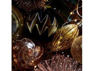 Boule de Noël en verre doré H10,5cm - alinea