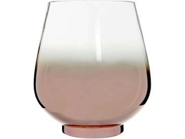 Photophore en verre base coloris cuivre h20cm - alinea