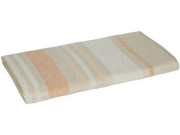 Drap de plage fouta en coton rayé beige 100x180cm - alinea