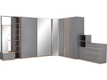 Armoire Dressing D'Angle Avec 1 Porte Effet Chêne - Gris - alinea