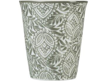 Lot de 6 tasses en porcelaine motif amande vert cèdre 9cl - alinea