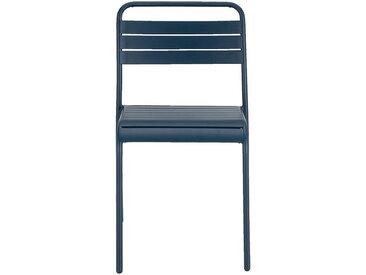 Chaise de jardin empilable en acier - bleu figuerolles - alinea