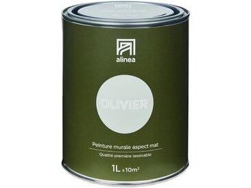 Peinture acrylique mate multi-supports 1L vert olivier Alinéa