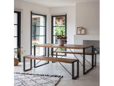 Table de repas en bois et métal vieilli - 8 places Alinéa