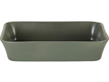 Plat À Four Rectangulaire En Grès Vert Cèdre 26x18cm - alinea