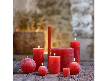 Bougie lanterne coloris rouge azerole D15xH15cm - alinea