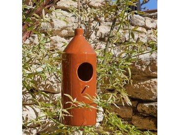 Mangeoire à oiseaux en céramique - marron D11xH30cm - alinea