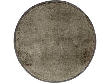 Tapis en fausse fourrure - gris foncé D70cm - alinea