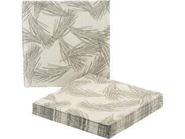 Lot de 20 serviettes en papier à motif aiguilles de pin 33x33cm - alinea