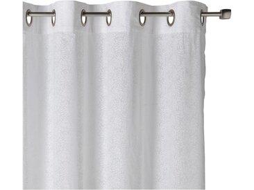 Voilage en coton blanc à motif floral 140x250cm - alinea