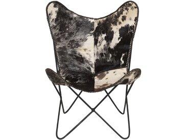 Housse de fauteuil en cuir peau de vache - alinea