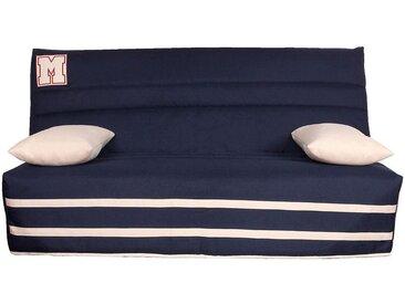 Housse pour clic-clac 130cm bleu marine avec poche de rangement latérale Alinéa