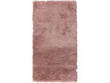 Descente de lit à poils longs - rose poudré 60x110cm - alinea