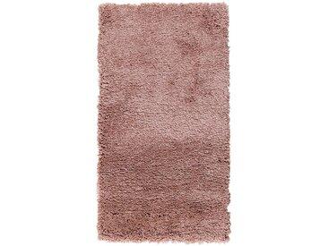 Descente de lit à poils longs rose poudré 60x110cm - alinea