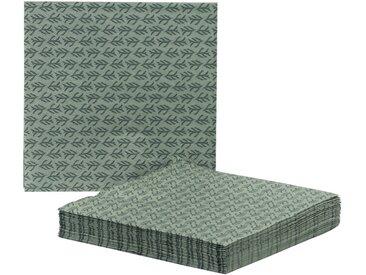 Lot de 20 serviettes en papier vert olivier à motif cyprès 33x33cm - alinea