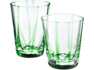 Lot de 6 verre à eau - vert d8xh11cm (prix unitaire : 5.0 euros) - alinea