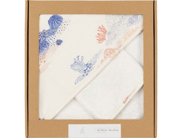 Ensemble cape de bain et gant bébé avec imprimé - multicolore - alinea