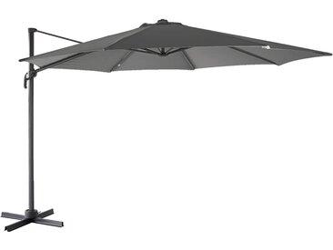 Parasol déporté rotatif 360° gris en polyester 2,99m Alinéa