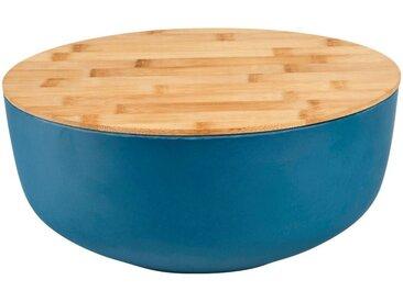 Saladier en fibre de bambou bleu D25,5cm - alinea