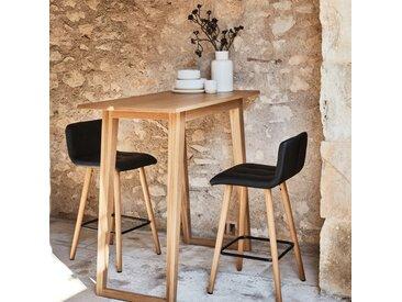 Chaise de bar en simili noir - H66cm Alinéa
