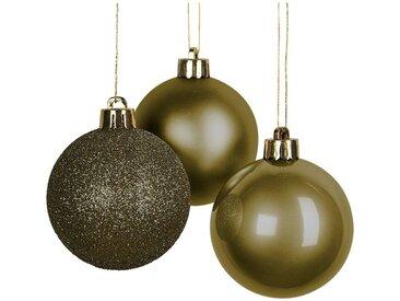Lot de 10 boules de Noël vertes D6cm - alinea