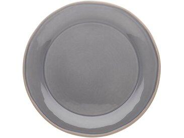 Lot de 6 assiette plate en faïence gris restanque d27cm (prix unitaire : 5.0 euros) - alinea