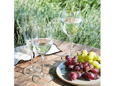 Lot de 6 flûte à champagne en verre 18cl (prix unitaire : 1.6 euros) - alinea