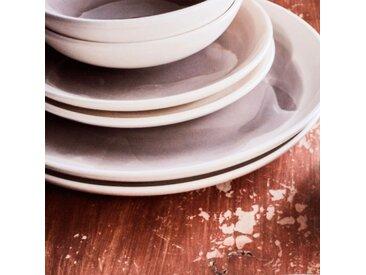 Lot de 6 assiettes plate en faïence gris restanque d27cm (prix unitaire : 4.0 euros) - alinea
